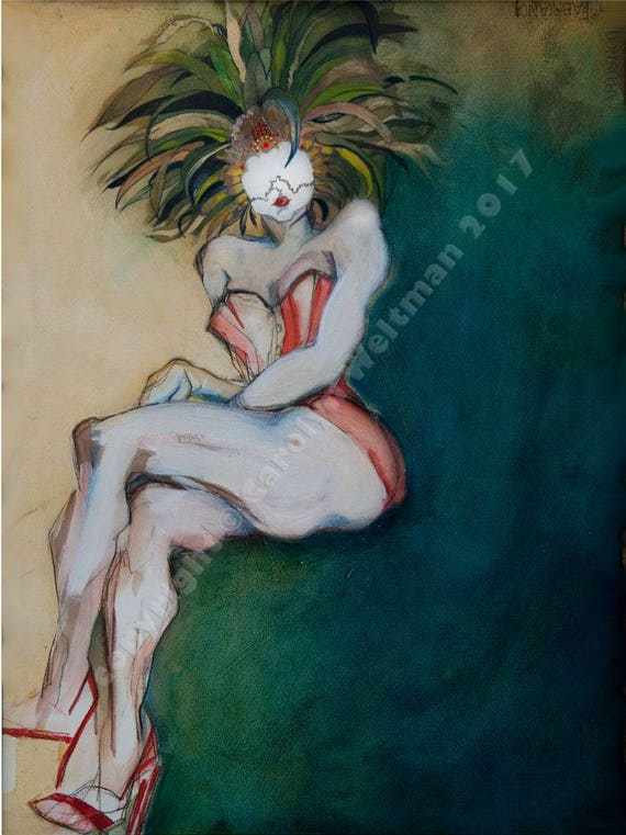 Erotic nude art print