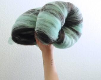 Thin Mints Are Not For Sharing - Merino Wool Art Batt 2.6oz