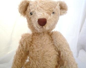 """Mohair Teddy Bear 18"""" Vanilla Bear"""