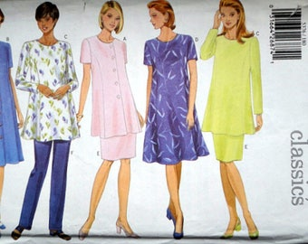 Butterick 5376 Sewing Pattern, Maternity Dress, Tunic, Skirt & Pants, Sizes 18-20-22, Bust 40-42-44, Plus Sizes, Uncut FF, Fast and Easy