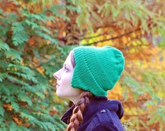 Green Ear Flap Hat For Men Women, Girls, Boys Or Teens Ready to Ship  Gift
