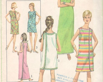 Simplicity 7572 1960s  Misses 3 Armhole  Wrap Dress Pattern Womens Vintage Sewing Pattern Size Medium Bust 34 36