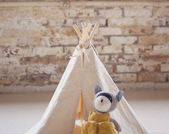 Doll Teepee and Faux Fur Rug