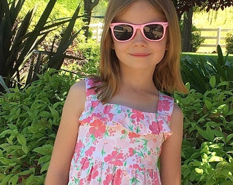 Girls dress pattern, baby dress pattern,  girls sewing pattern, baby sewing pattern, Summer Days Dress, Instant download digital pattern,