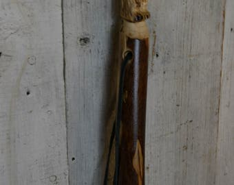 Hand Carved Walking Stick, Bear Walking Stick - Grizzly Carving -  Bear Stick - Hiking - Unique Gift - Functional Art - Ren Faire 1623