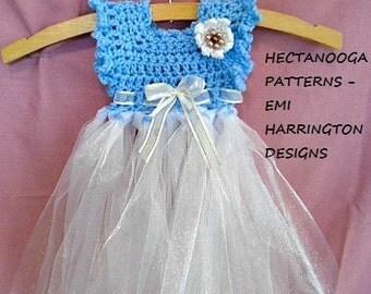 CROCHET TUTU PATTERN - Girl's dress - newborn - 6yrs, children's clothing, special occasion, bridal, christening dress, photo prop, #1141