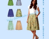 Simplicity 1369 Womens Gathered Skirts with Variations size 14 16 18 20 22 Modern Sportswear Plus Size Sewing Pattern Uncut FF