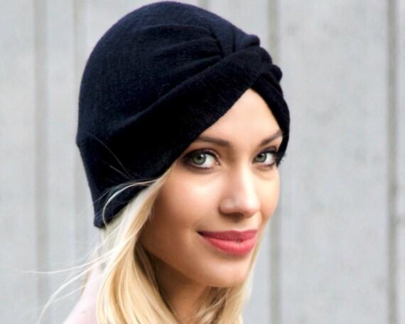 turban chapeau turban noir extensible chapeau turban plein. Black Bedroom Furniture Sets. Home Design Ideas