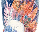 Rabbit and Flora - 8x10 P...