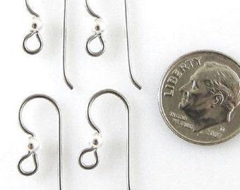 TierraCast Earwires-GREY NIOBIUM + 3mm Sterling Silver Bead (4)