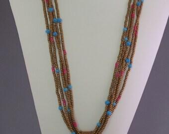 "Multi-Strand ""Turquoise"" Pendant Necklace"
