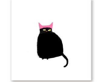 Women's March Cat Print - Equality for All - Protest Art