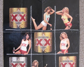 1982 Dos Equis Beer XXs and OHs poster