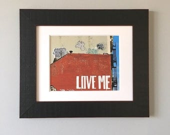 Love Me Framed Photography, Valentines Day Decor, NYC Print Framed, Graffiti Art Framed, Graffiti Print, Framed Wall Art, NYC Art Framed