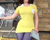 Mellow yellow Mod Dress small