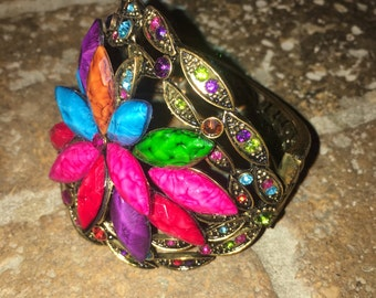 Costume Jewelry Estate Jewelry Gypsy Cuff Bracelet Bellydance Mardi Gras