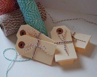 Small Manila Shipping Tags - 3 1/4 x 1 5/8 -Blank-Price Tag-Craft Tag-Bake Sale Tag-Manilla-Hang Tag-Gift Tag-Packaging- Ready to Ship