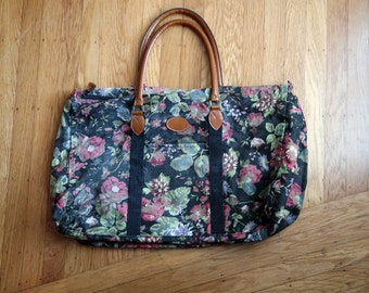 Roomy GITANO 80s / 90s ditzy floral XL tote bag