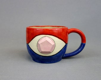 Steven Universe Mug: Crystal Gem Inspired Stoneware Ceramic Coffee Mug