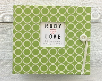 Lime Green MOD Circles | BABY BOOK