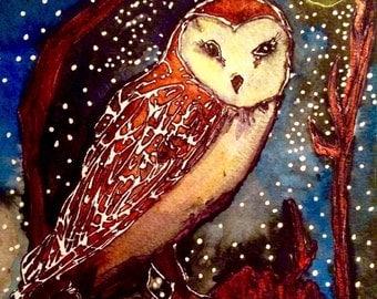 Night Watcher: Art Prints in Various Sizes