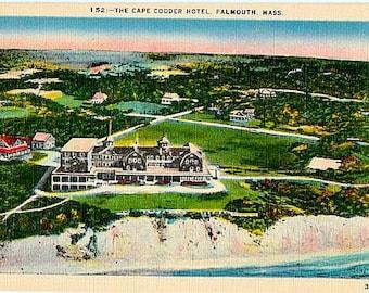 Vintage Cape Cod Postcard - The Cape Codder Hotel, Falmouth (Unused)