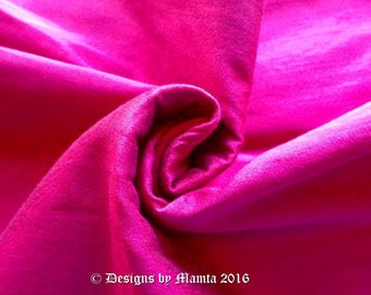 Magenta Dupioni Silk Fabric By Yard, Bridesmaid Gown Fabric, Curtain Fabric, Pink Indian Silk Fabric, Wholesale Indian Fabric Stores