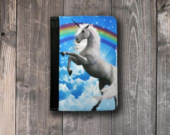 Passport Cover Rainbow Unicorn Passport Case Passport holder Vegan Friendly