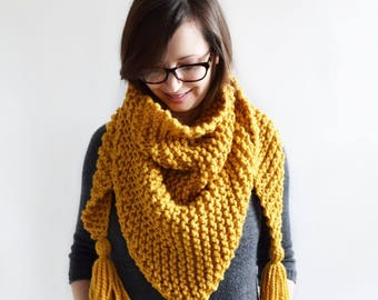 Triangle Tassel Scarf Pattern