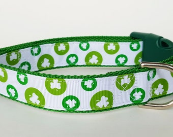 Lucky Clover Dog Collar / St. Patrick's Day Dog Collar