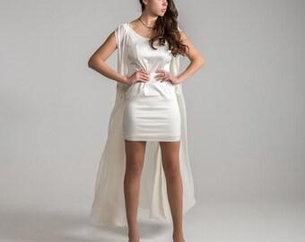 ANGEL 2 Limited Edition Bohemian Minimalist Wrap Transformable WEDDING DRESS Free Shipping