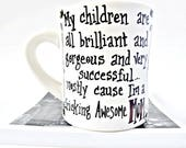 Awesome Mom Coffee Mug, Mom Mug, Mom Gift, coffee cup, funny mugs for women, mother, gift for her, funny mug, womens mug, personalized