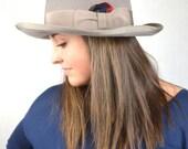 Vintage Gray Felt Fur Fedora Hat - Caxton