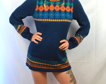 Vintage Organically Grown Cute Sweater Dress by Arpeja