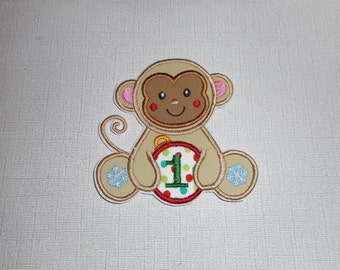 Free Shipping Ready to Ship Christmas Monkey  Machine Embroidery  iron on applique