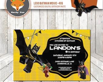 il_340x270.1126757426_psiw lego batman movie batman robin batgirl joker birthday by nerdyfox,Lego Batman Movie Invitations