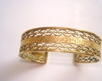 Filigree  Gold Tone  Bracelet