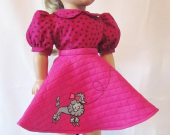 "18"" doll clothes, AG, Poodle Skirt"