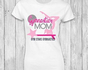 Gymnastics Mom T-Shirt, Personalized Gymnastics Mom T-Shirt, Gymnastics T-Shirt, Gymnastics Mom Competition Shirt