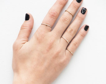 Radius Silver Ring // Simple Minimal // Stacking  Minimalist Ring Band