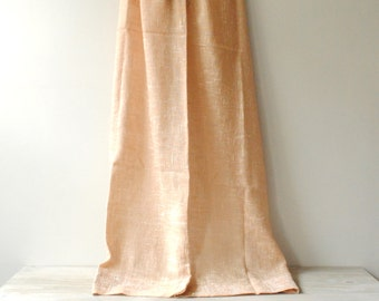 Vintage Curtains, Pair of Neutral Sheer Curtains