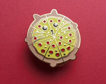 Pizza Cat Pin - Cat Pin - Pizza Pin - Enamel Cat Brooch - Lapel Pin - Cat Brooch - Cat Lover Gift - Hard Enamel Cat Brooch