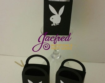 Playboy inspired mini favor bags