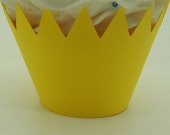 12 Yellow, You Are My Sunshine, Lemonade Party Cupcake Wrappers...Fully Assembled