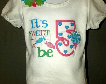 Sweet Shoppe Shirt Candy Shoppe Shirt Sweet Shoppe  Birthday Shirt and Matching Bow,girls birthday shirt, girls birthday shirt and bow