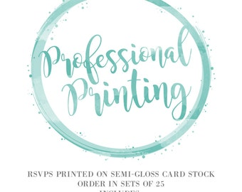 5.5x4 Professional Printing Services - Semi-Gloss - Double Sided - Add on with Vibrant Imagery RSVPs