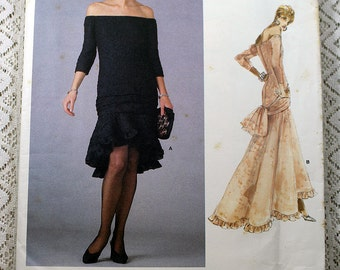 Vogue 1995, Misses' Dress Sewing Pattern, Yves Saint Laurent Pattern, Original 1987 Pattern, Misses' Size 6, 8, 10, Uncut