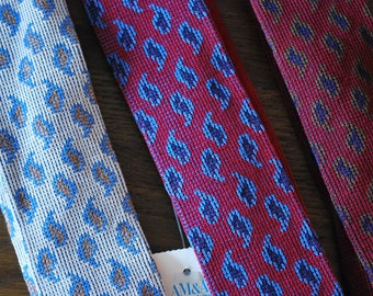 1980s Deadstock NWT Lot of 3 vintage paisley ties Kenneth Stevens