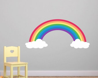 Rainbow Wall Decals - Rainbow Decals - Kids Room Decal - Rainbow Reusable Wall Decal - Rainbow wall decal - Girls Wall Decals