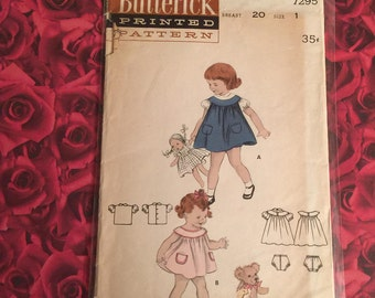 40's Vintage Butterick Sewing Pattern